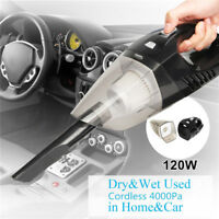 120W High Power LED Cordless Rechargeable Dry & Wet Portable Car Vacuum Cleaner