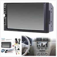 1x 7inch 2DIN Car MP5 Player Bluetooth Touch Screen Stereo Radio HD+Rear Camera2