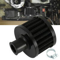 12mm Carbon Car OIL Cold Air Intake Crank Case Turbo Vent Breather Filter