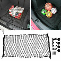 Fit SUV Van Truck Black Mesh Net Trunk Cargo Big Storage Organzier Plus Mounting