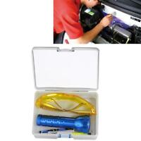 Car Air Conditioner Leak Detector Kit UV Lamp Safety Goggle Detect Agent Box Set