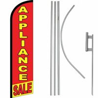 Appliance Sale Red / Yellow Windless Banner Flag & 16ft Flagpole Kit /Ground