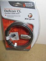 C4 Targus Defcon CL Notebook Laptop PC Desktop Combo Cable Lock Security PA410U