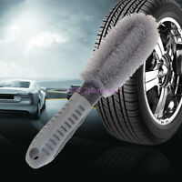 Car Autos Wheel Tire Rim Scrub Brush Hub Clean Brush Washing Cleaning Brush Kit