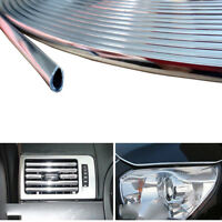 Silver Car Exterior Door Edge Trim Strip Line Anti Dent Scratch Guard Accessory