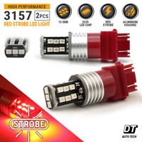 3157 LED Strobe Flashing Blinking Brake Tail Light/Parking Safety Warning Bulbs