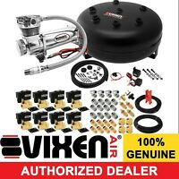 Air Suspension Kit/System for Truck/Car Bag/Ride/Lift,200psi Compressor, 4G Tank