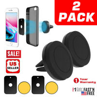 2X Magnet Car Dash Cell Phone Holder Air Vent Mount Cradle for iPhone X 8 7 Plus