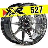 XXR 527 16X8 4X100 4X114.3 +20 CHROMIUM BLACK WHEELS (SET OF 4)