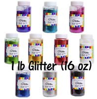 Fine Glitter in Plastic Shaker Bottle, 1 Lb Sparkle Confetti Arts and Crafts