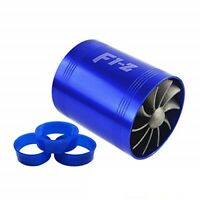 F1-Z Double Turbine Turbo Charger Air Intake Gas Fuel Saver Fan Car Supercharger