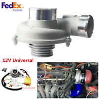 12V Universal Car Electric Turbo Supercharger Air Filter Intake TurboCharger Kit