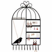 Wall Mounted Jewelry Display Holder Earring Necklace Hanger Rack Hook Organizer