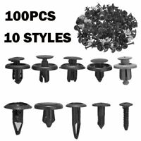 100x Trunk Screw Rivets Set Car Bumper Fender For Auto Plastic Fastener Clips vy