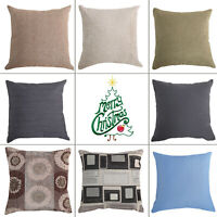 Christmas Pillow Santa Cotton Linen Sofa Car Throw Cushion Cover Home Decor Gift