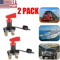 Battery Isolator Disconnect Cut OFF Power Kill Switch 2pc for Marine Car RV Boat