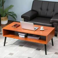 Modern Round Coffee Table Small Sofa Side End Side Wood Legs Living Room Table