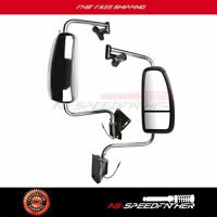For 1997-2010 International 9200 9400I Rearview Mirror Complete Pair Side Chrome