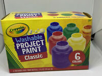 Crayola Washable Kids Paint, 6 Count, Kids At Home Activities, Painting Supplies