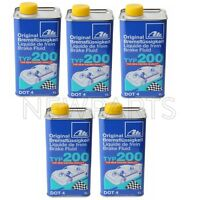 For 5 Liters Type 200 Dot 4 Performance Brake Fluid High Boiling Point ATE