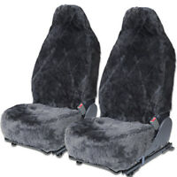 Sheepskin Car Seat Covers 2 Piece Set Real Australian Soft Cushion Leather Hive