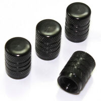 4 Black Aluminum Tire Wheel Air Stem Valve Caps Covers for Cars-Trucks-SUV