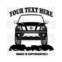 NISSAN FRONTIER 2012 SUV 4X4 Offroad Custom Personalized Vinyl Decal