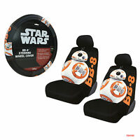 New Disney Star Wars BB-8 Car Truck Front Seat Covers & Steering Wheel Cover Set