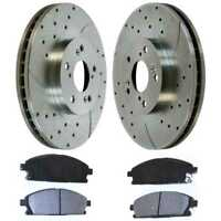New Front Drilled & Slotted Brake Set fits 03-06 Acura MDX w/Lifetime Warranty
