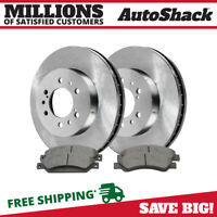 PREMIUM FRONT METALLIC BRAKE PADS AND DISC ROTORS COMPLETE KIT LEFT