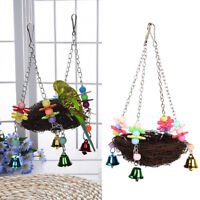 Parrot Bird Swing Hanging Chew Toy Parakeet Budgie Cockatiel Nest Hammock US
