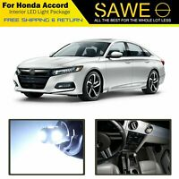 14 x White LED Lights Interior Package For Honda ACCORD 2013 - 2018 + PRY TOOL