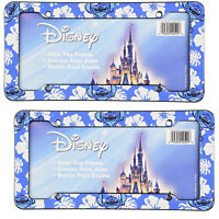 New Walt Disney Lilo Stitch Car Truck Automotive License Plate Frames 2pc Set