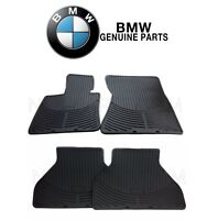 For BMW X5 X6 Front & Rear All Weather Rubber Black Floor Mat Set Genuine