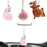 Bling Car Accessories Pink Crystal Mirror Hanging Decoration for Girls
