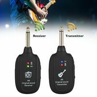 Digital Wireless Guitar System Transmitter & Receiver Rechargeable Battery 50M