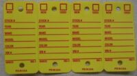 used car lot tags New Yellow Key Tags Rings Rigidene Free Shipping USA yovero