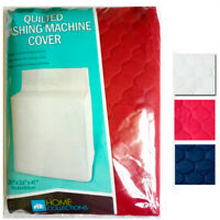 1 Washing Machine Cover Quilted Fabric Dust Free Appliance Colors 30