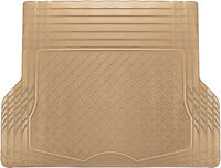 Trunk Cargo Floor Mats for Cars All Weather Rubber Beige Heavy Duty Auto Liners