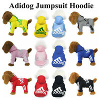 For Small Dogs 2/4 Legs Adidog Warm Jumpsuit Hoodie Coat Sweater Jacket Apparel