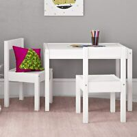 Kids Table Chair Set Sturdy Wood Construction Hunter 3 Piece Kiddy Table Chair