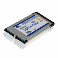 34mm PCMCIA Express Card Karte 2 Port USB3.0 expressCard Hub /34 Laptop Notebook