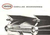1959 Cadillac Accessory Sales Brochure Literature Book Options Features Options