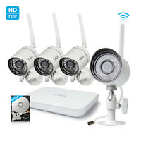 Funlux 3Pack Smart Home HD Outdoor WiFi IP Wireless Security Camera System Night