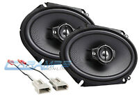 NEW KENWOOD 3-WAY CAR/TRUCK STEREO FRONT OR REAR SPEAKERS W SPEAKER WIRING