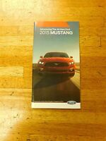 2015 FORD ALL NEW MUSTANG MODEL INTRODUCTION DEALER SALES BROCHURE BOOKLET