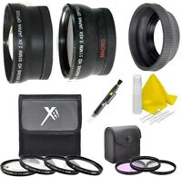 55mm Lens Filter Accessory Kit for Sony Cyber-Shot DSC-H400 DSC-HX400 DSC-HX300