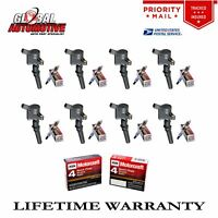 New Ignition Coils & Motorcraft Spark Plugs Ford Lincoln Mercury DG508 8pcs