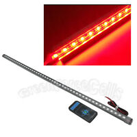 56cm LED Waterproof Flash Car Knight Rider Strip Lights w/Remote Red US Stock