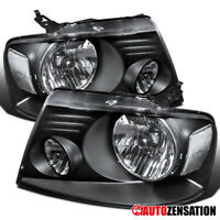 For 2004-2008 Ford F150 2006-2008 Lincoln Mark LT Black Clear Headlights Lamps